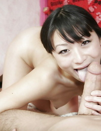 Asian cocksucker Lena Lang getting a meaty dick in her naughty vagina