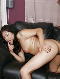 Wild asian lady Mya Minx gets stuffed hardcore by a ebony man