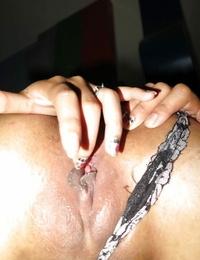 Puny Thai hooker pulling panties aside to satisfy a Farangs hard-on