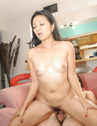 Promiscuous asian MILF Lucky Starr gives a buns and gets stuffed hardcore