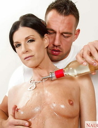 Randy MILF India Summer loves an erotic lube rubdown before a wedding