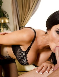 European pornstar Jasmine Jae having sexual relations in dark-hued nylons