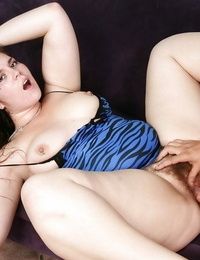 Chubby hoe with fur covered cunt Marley Mason deep-throats and smallish a firm shaft