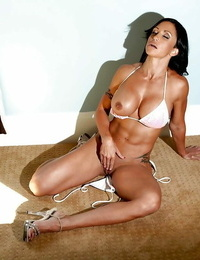 Scorching MILF with thick knockers Jewels Jade gangbanged and dual pummeled