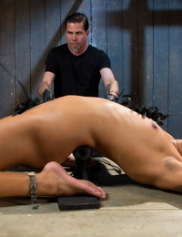 Ebony chick Daisy Ducati pisses herself while being tantalized and humiliated