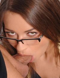 Phat European babe Savannah Secret gives a butt-cheeks and takes jizz in mouth