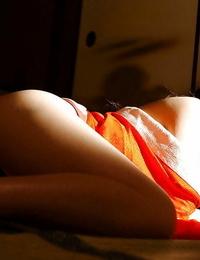 Inviting asian stunner Ran Asakawa uncovering her perky titties