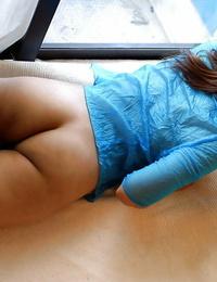 Stunning asian stunner Megumi Yoshioka uncovering her yanks bra-stuffers and sadism vagina