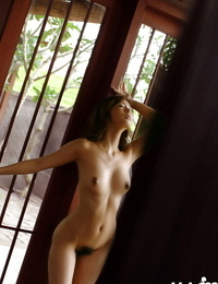 Pretty asian honey with sexy ballsack unclothing off even her undies
