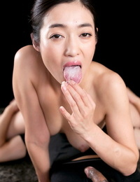 Phenomenal Japanese spit-filled takes a cock and strokes it until it erupts