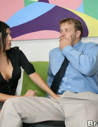 Jaw-dropping latina Sativa Rose enjoys huge-titted and nailing well strung up studs