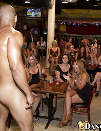 Clad squealing are pleasuring scorching strippers with their fellatios