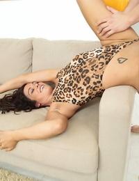 Dickblowers Latina Misti Enjoy and her pierced pussy railing long cock