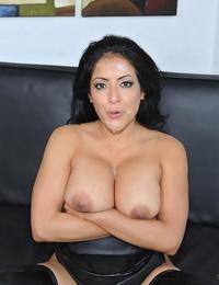 Warm Latina girl Kiara Mia spits out jizz after pleasing a hard-on