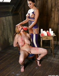 Fetish lezzies Anna Polina and Tasha Holz enjoy hard BDSM role-playing