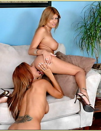 Mummy lesbians Demi Delia and Lisa Daniels stripping and licking leaned
