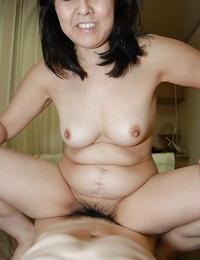 Fatty Asian milf Mako Anzai has her S/M vagina screwed firm
