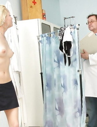 Pretty light-haired lady Adele Sunshine shows a great fetish scene