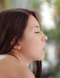 Teenage lezzies Clover nails with a naughty Asian Paula in the bedroom