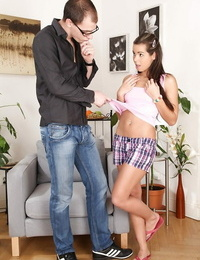 Devours teenager stunner Ferrera Gomez gives a oral pleasure and gets bitchy gonzo
