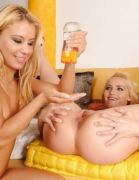 Kathia Nobili investigating going knuckle deep pleasures with her lesbian friend
