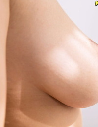 Asian amateur Yume unveils huge natural tits before playing with hairless pubic hair