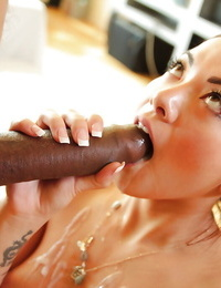 Asian Morgan Lee is getting cum in her mouth by big captured hard-on