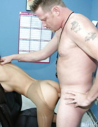 Cute gf Alexis Love riding a rock hard dagger and getting sated