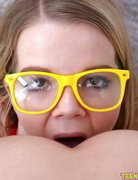 Glasses clothed teens Vannessa Phoenix and Lexxxus Adams finger lezzie cunts