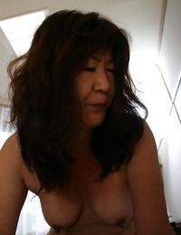 Asian granny Michiko Okawa gives a sensual blowjob and gets pounded