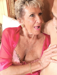 The oldest pornstar in the world gets facialized after doing anal hookup