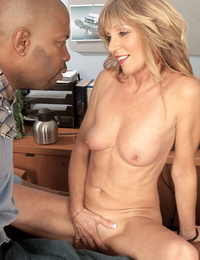 Sweetie secretary knows how to sundress to tempt her black boss at work