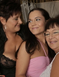 2 mature lesbians are going mad about degustating younger honies sweet vagina