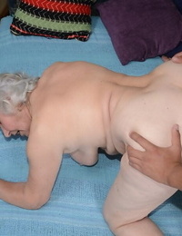 Furry pussy of tasty granny Norma gets nailed hardcore with a youthfull shaft
