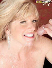 Older 50 chick Dawn Jilling deep-throats and smallish her junior paramours fat dick