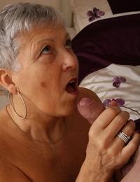 Older granny Savana bares big saggy knockers to screw youthful mans rock hard hard-on cowgirl