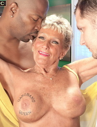 Age isnt an obstacle for Sandra Ann when it comes to supersluts threesome