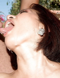 60 plus Asian granny Kim Anh providing large cocks bj outside in MMF three-way