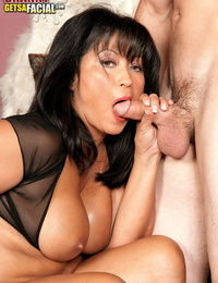 Hot mature woman Lani Maru cheats on her husband with a younger guy