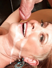 Top mature with impressive knockers Lexi McCain roughly nailed by junior dude