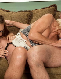 Georgette Parks enlists a young cutie for threesome on hubbys birthday
