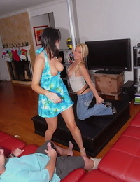 Katy Kelly and her mind-blowing Mummy buddy working on one pulsating shaft