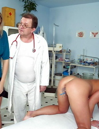 European doctor takes a glance at that ass and nice cunt
