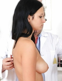 Sexy fetish aficionado girl is blessed to be examined by dirty doctor