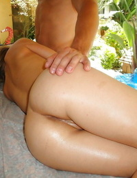 Blond Teagan Summers throats massage stud and then lets him spunk on her face