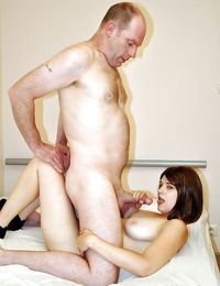 Very first class buns and handjob done by a big boobs cutie to her lover
