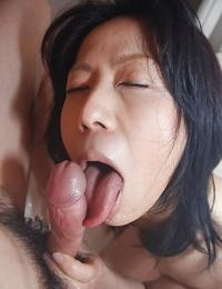 Pretty asian mummy Miki providing a butt-cheeks and fucking in bathroom