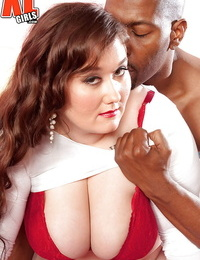 Buxomy obese housewife Lilli Blue engaging in interracial lovemaking with BBC