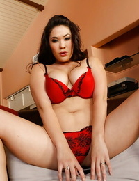 Curvaceous asian vamp gets shagged and facialized in POV style