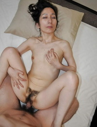 Mature asian slut gives head and gets her shaggy poon shafted former boyfriend